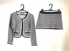 INGNI(イング) スカートセットアップ レディース 白×黒 ニット