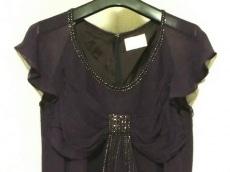 グレースクラス ドレス サイズ36 S レディース美品  パープル ビーズ