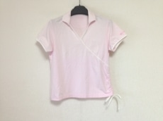 バーバリー 半袖カットソー サイズL レディース ピンク×白
