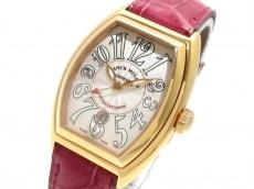 フランクミュラー 腕時計 コンキスタドール 8001LSC レディース 白