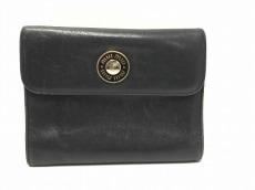 miumiu(ミュウミュウ) 3つ折り財布 - 黒 レザー