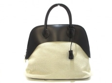 HERMES(エルメス) ハンドバッグ ボリードパドック35 黒×エトープ