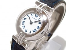 Cartier(カルティエ) 腕時計 ヴェルメイユ - レディース 革ベルト 白