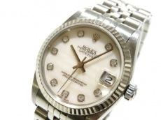 ロレックス 腕時計 デイトジャスト 68274NG ボーイズ シェルピンク