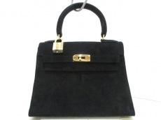 HERMES(エルメス) ハンドバッグ ミニケリー 黒 外縫い/ゴールド金具