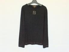 FENDI(フェンディ) 長袖Tシャツ サイズ44 L レディース 黒 スタッズ