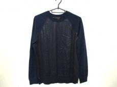 ルイヴィトン 長袖セーター サイズS メンズ美品  黒×ネイビー