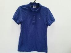 ラコステ 半袖ポロシャツ サイズ42 L レディース ブルー 刺繍