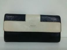BALLY(バリー) 長財布 黒×白 レザー