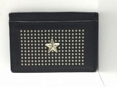 ジミーチュウ カードケース - 黒 スター/スタッズ レザー