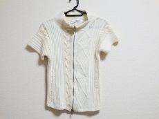ブルネロクチネリ 半袖セーター レディース アイボリー×ベージュ