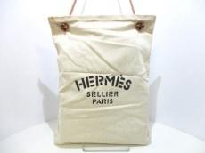 HERMES(エルメス) ショルダーバッグ アリーヌ コットン×レザー