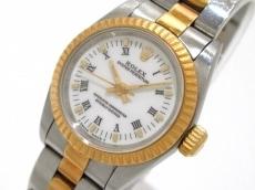 ロレックス 腕時計 オイスターパーペチュアル 67193 レディース 白
