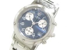 エルメス 腕時計 クリッパークロノ CL1.310 レディース ブルー