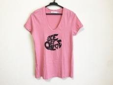 シーバイクロエ 半袖Tシャツ レディース美品  ピンク×黒