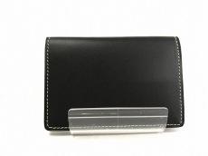 SOMES(ソメス) カードケース 黒×アイボリー レザー
