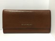 GIVENCHY(ジバンシー) 長財布 ブラウン レザー