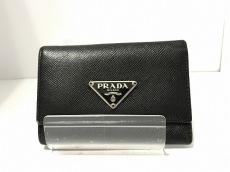 PRADA(プラダ) キーケース - 黒 6連フック レザー