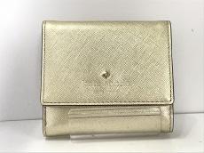 Kate spade(ケイトスペード) Wホック財布美品  ゴールド レザー