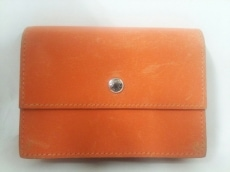HERMES(エルメス) 名刺入れ サクラ オレンジ ボックスカーフ