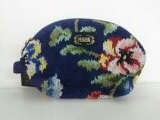 FEILER(フェイラー) ポーチ新品同様  花柄 パイル