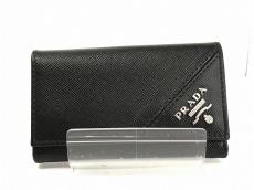 PRADA(プラダ) キーケース - 2M0223 黒 6連フック レザー