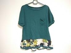 ふりふ(フリフ) 半袖Tシャツ レディース美品  グリーン×マルチ