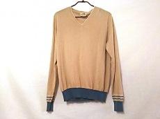 エルメス 長袖セーター サイズM メンズ ベージュ×白×ブルー