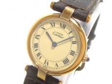 カルティエ 腕時計 マストヴェルメイユ - レディース 革ベルト/925
