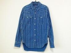 キャピタル 長袖シャツ サイズ2 M メンズ ネイビー×白 花柄