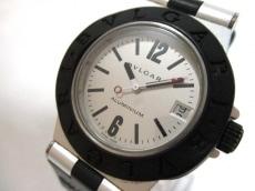 ブルガリ 腕時計 アルミニウム AL32TA レディース ラバーベルト 白