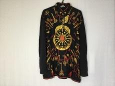 エルメス 長袖セーター レディース美品  黒×イエロー×レッド