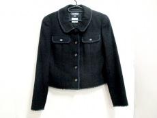 シャネル ジャケット サイズ42 L レディース美品  黒 肩パッド