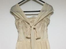 エメ ドレス サイズ9 M レディース美品  ベージュ×ゴールド 刺繍