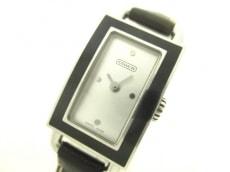 COACH(コーチ) 腕時計 0264 レディース 革ベルト シルバー