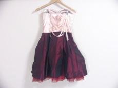 aimer(エメ) ドレス サイズ9 M レディース美品  ピンク×ボルドー