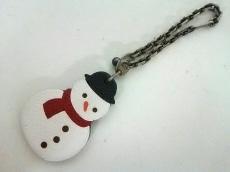 エルメス キーホルダー(チャーム)美品  - 白×黒×レッド 雪だるま