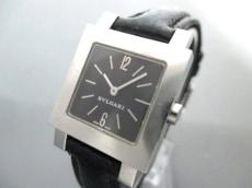 ブルガリ 腕時計 クアドラード SQ22SL レディース 革ベルト 黒
