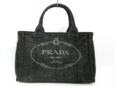 PRADA(プラダ) トートバッグ CANAPA B2439G 黒 デニム