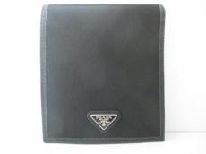 PRADA(プラダ) 2つ折り財布美品  - 2M0738 黒 ナイロン×レザー