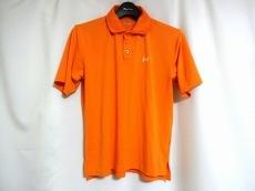 アンダーアーマー 半袖ポロシャツ メンズ オレンジ×白