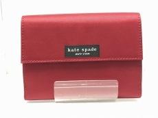 Kate spade(ケイトスペード) Wホック財布 ボルドー ナイロン