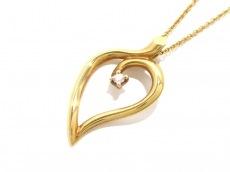 TIFFANY&Co.(ティファニー) ネックレス リーフ K18YG×ダイヤモンド