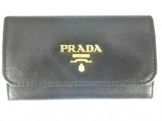 PRADA(プラダ) キーケース - 1M0222 黒 6連フック レザー
