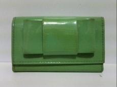 ミュウミュウ キーケース - 5M0222 ライトグリーン 6連フック/リボン
