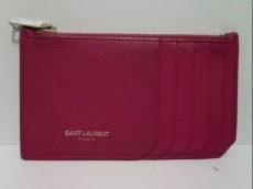 サンローランパリ コインケース 379278 ピンク カード入れつき