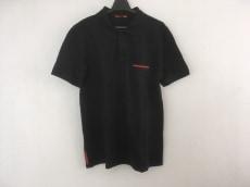 PRADA SPORT(プラダスポーツ) 半袖ポロシャツ メンズ 黒×レッド