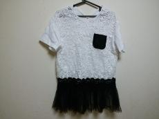 ヌメロ ヴェントゥーノ 半袖カットソー レディース美品  白×黒