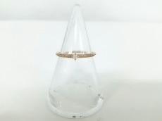 agete(アガット) リング美品  K10×ダイヤモンド 0.03カラット