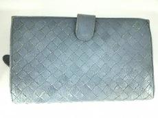 ボッテガヴェネタ 2つ折り財布 イントレチャート B02151849M ブルー